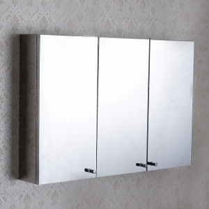 Three-Door-Stainless-Steel-Mirror-Cabinet-in-Wall-Mounted-CB-A7550-